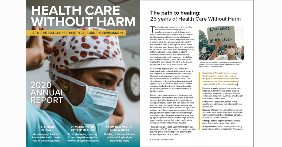 Health Care Without Harm annual report