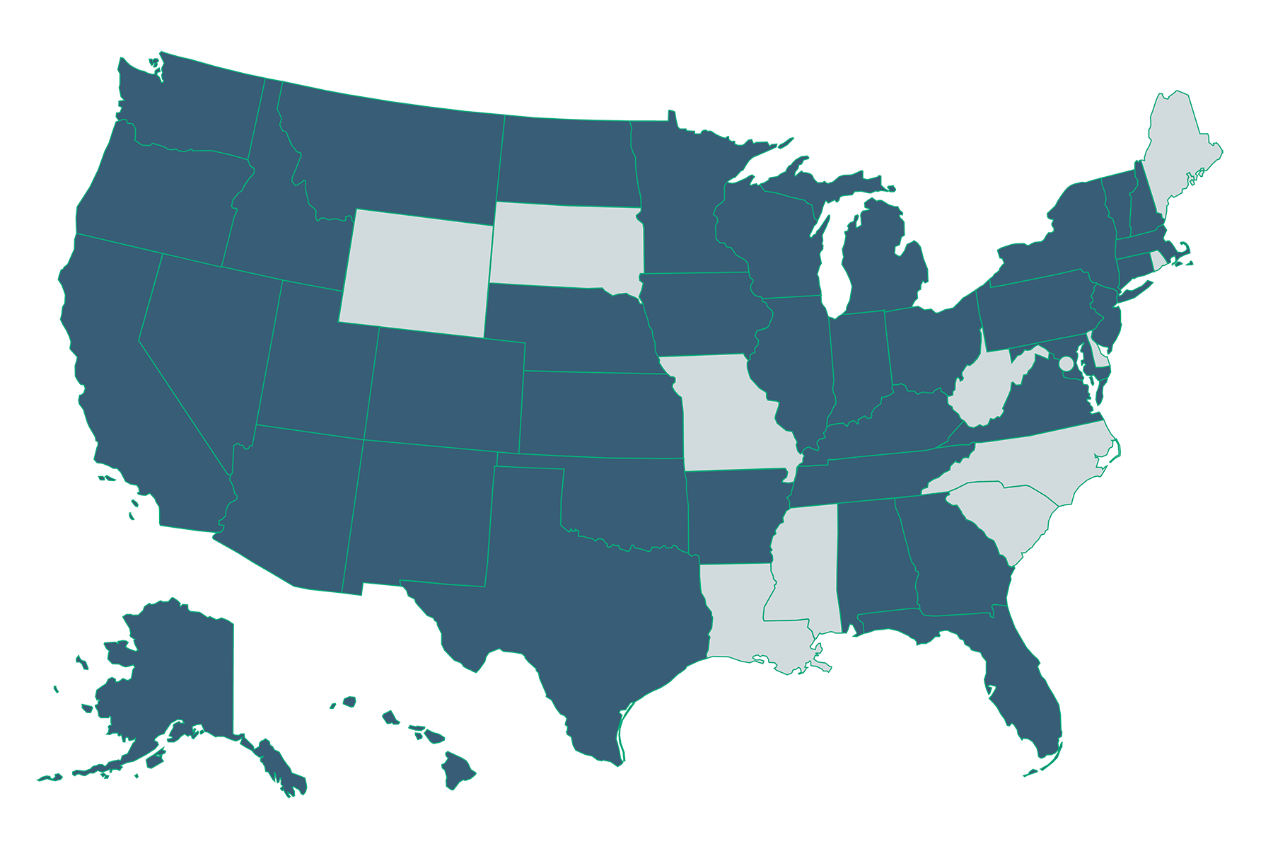 Health Care Climate Council Map 2021