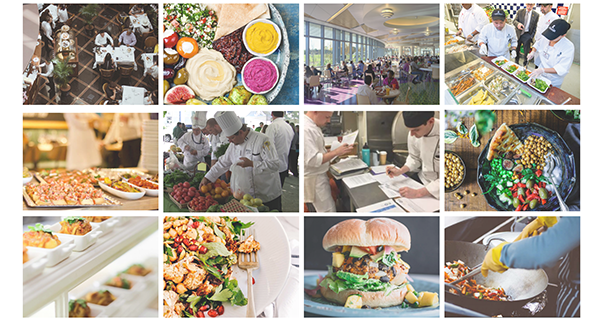 Culinary plant-forward collage