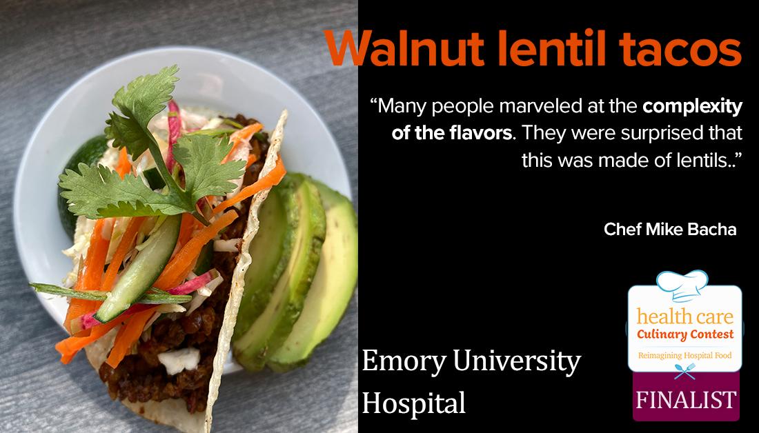 walnut lentil tacos