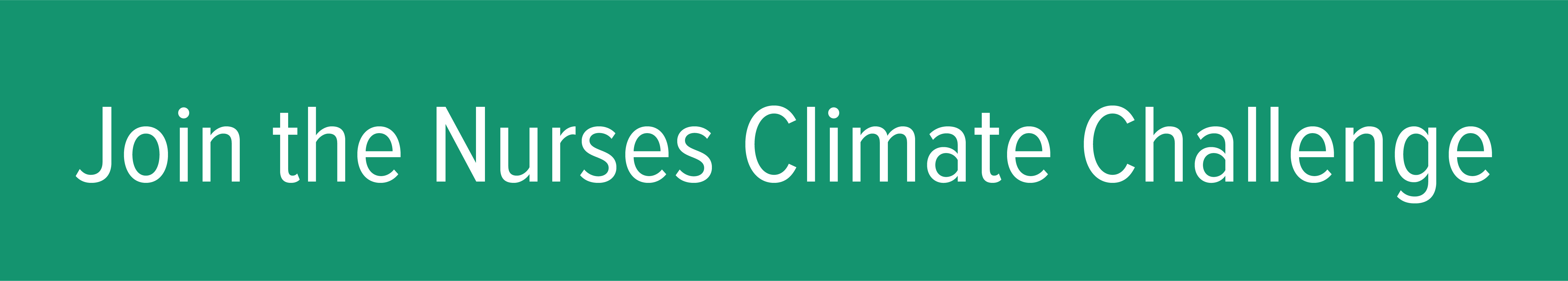 Join the Nurses Climate Challenge