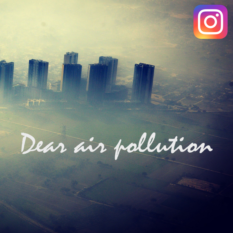 Air pollution Instagram image