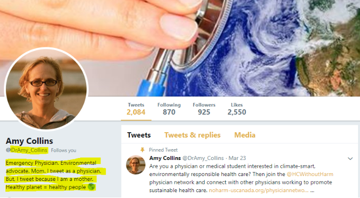 Dr. Collins Twitter